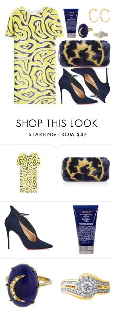"""""""Brocade"""" by cherieaustin on Polyvore featuring Emilio Pucci, Hayward, Christian Louboutin, Kiehl's, Andrea Fohrman, Modern Bride and Melissa Joy Manning"""