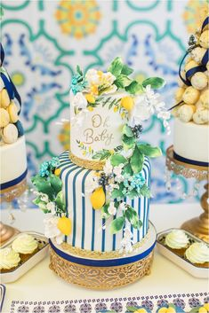 Mehwish's Amalfi Inspired Baby Shower Baby Shower Decorations For Boys, Baby Shower Themes, Limoncello, Baby Shower Cakes, Baby Boy Shower, Italian Baby Showers, Baby Shower Photography, Lemon Party, Festa Party