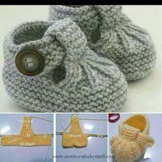 Baby Knitting Patterns Knitting Craft Booties Sapatinho...