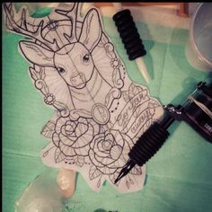 ... Deer tattoo/ designs on Pinterest | Deer tattoo Neo traditional and