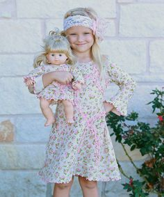 This Pink & Cream Floral Ruffle Dress & Doll Dress - Girls is perfect! #zulilyfinds