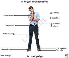 Learn Greek, Greek Language, Greek Words, Collar Shirts, Teaching, Alphabet, Culture, Education, School