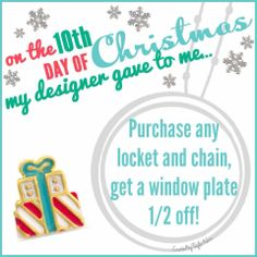On the 10th Day of Christmas...... What Charms Tell Your Story? Contact me now! www.GlamorousByVictoria.OrigamiOwl.com ~ Designer #49681 Like our www.facebook.com/GlamorousByVictoria