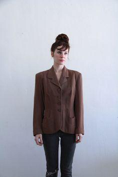 Vintage 1940s Blazer  Silk Lined  Tailored Cut  by VeraVague, $88.00