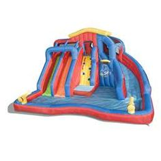 Compare prices on Banzai Hydro Blast Water Slides from top online watersport equipment retailers. Save money on inflatable water slides and accessories. Blow Up Water Slide, Water Slides, Backyard Water Parks, Backyard For Kids, Large Backyard, Tsunami Waves, Inflatable Water Park, Water Cannon, Splash Park