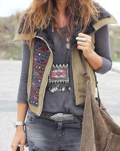 Sweatshirt-Vest-Tribal Jewelry-Messenger Bag ~ Free Generation