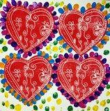 Artsonia Art Exhibit :: 2nd Grade Jim Dine Hearts Scratchfoam Print