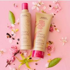 Cherry Almond is coming back!!! Are you as excited as we are?! With certified organic orange certified organic ylang ylang tonka bean and benzoin resin Cherry will have your hair feeling soo soft! Pre-order yours today!    #Aveda #CherryAlmond #GetStoked