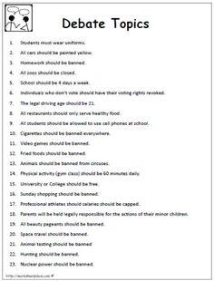 Topics for essay?