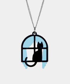 Suncatcher necklace - Hey Chickadee (Designed by artist Yuko Ota.)