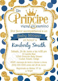 41 trendy ideas baby shower ideas for boys prince etsy Baby Shower Niño, Baby Shower Princess, Baby Shower Signs, Baby Shower Invitations For Boys, Baby Shower Themes, Baby Boy Shower, Baby Shower Decorations, Shower Ideas, Baby Invitations
