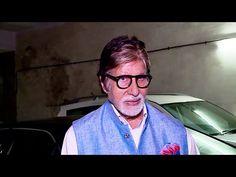 Amitabh Bachchan at the screening of Irrfan Khan's MADAARI movie.