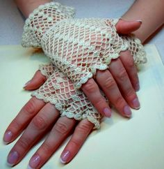 Crochet Wedding Hairstyles : ... crochet - hooked - yarn craft on Pinterest Knitting, Crochet gloves