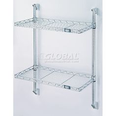 18 Quot D Wall Mounted Wire Shelving Kits W 2 Levels Dish