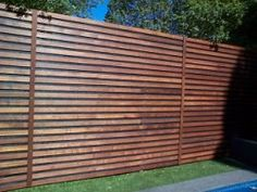 Slat fence from all day fencing .com