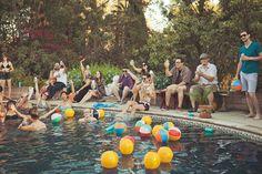 Surprise Pool Party Wedding Recreation
