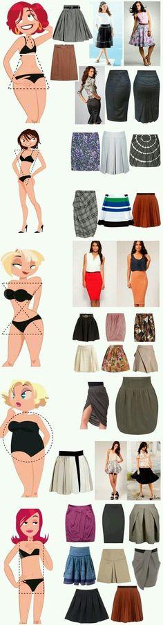 ideas skirt types body shapes clothes for 2019 Diy Fashion, Ideias Fashion, Fashion Outfits, Womens Fashion, Fashion Design, Fashion Tips, Fashion Trends, Style Fashion, Woman Outfits