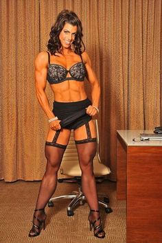 Pity, that female bodybuilders in pantyhose will not