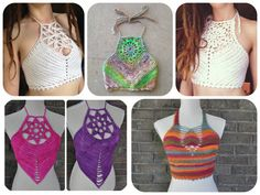 5 Crochet Pattern Pack - Crochet Crop Top Pattern Pack
