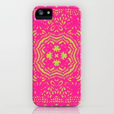 Tine Lenga pink and yellow iPhone & iPod Cases by Cally Creates   Society6