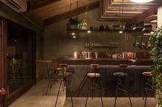 Kitchen. Cafe Shop, Cafe Bar, Cafe Restaurant, Japanese Restaurant Design, Small Restaurants, Bar Interior, Cafe Style, Japanese House, Branding