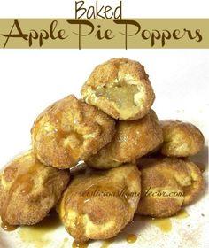 Baked Apple Pie Poppers-2 Ingredients!  #apple #pie #desserts rel='nofo...