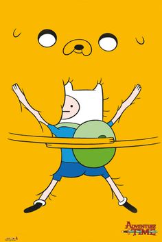 Adventure Time Bro Hug - Official Poster. Official Merchandise. Size: 61cm x 91.5cm. FREE SHIPPING