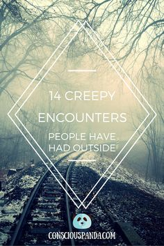 Paranormal experiences are most often thought to happen indoors. But what can happen in the great outdoors? Here's 14 Creepy Encounters People Have Had Outside. True Creepy Stories, Creepy But True, True Horror Stories, Ghost Stories, Horror Movies, Creepy Things, Creepy Stuff, Real Paranormal, Paranormal Experience