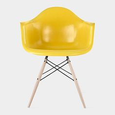 Eames DFAW #yellow molded #chair #armchair, by C. and R. Eames, @momadesignstore