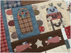 Lancaster Quilt 7 Lancaster, Country Quilts, Embroidery Applique, Lana, Primitive, Patches, Kids Rugs, Blanket, Sewing
