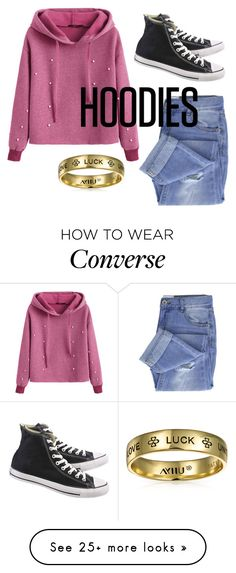 """""""Hoodies"""" by frandesplenter on Polyvore featuring Taya, Converse, Bling Jewelry, Hoodies and polyvorecontest"""