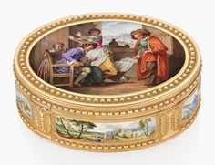 A Louis XVI vari-colour gold snuff-box set with enamel plaques. By Jean Louis Darras (1781-1793), marked, Paris, 17811782. 2⅝ in (68 mm) wide. Estimate £40,000-60,000. This lot is offered in the Opulence sale on 29 November 2016 at Christies in London, King Street