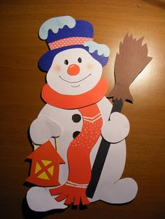 Bonhomme de neige Noël Kids Crafts, Christmas Crafts For Kids, Christmas Projects, Preschool Crafts, Kids Christmas, Diy And Crafts, Paper Crafts, Christmas Ornaments, School Decorations