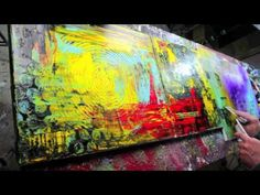 ► Abstract Art Action Painting HD Video HOW TO - Alyssum by John Beckley