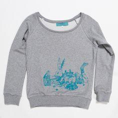 Womens Rabbit Sweater Grey Marle