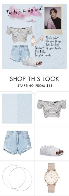 """""""Keys to your heart"""" by maeko-ng711 on Polyvore featuring Designers Guild, Nobody Denim, adidas, ROSEFIELD, seventeen and vernon"""