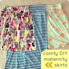 DIY maternity skirts