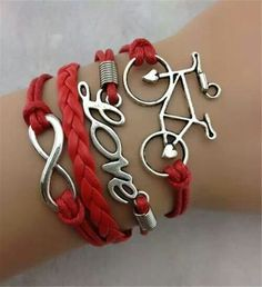 "Beautiful ""Bike Love"" bracelet! Someone can buy this for me :)"