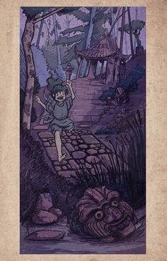 'The Rattling Bridge' Card 02 Illustration