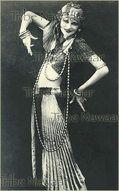 Tribe Nawaar Belly Dance Art Photographic Reproduction Vintage Bellydance Print Old Fashioned Bellydancer Tribal Fusion Silent Film Era Dancer