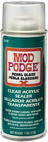 mod podge pearlized spray sealer 11 ounces