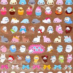 many small Mamegoma sticker San-X from Japan 1