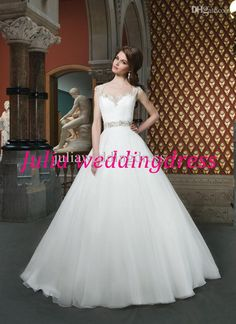 Wholesale Wedding Dresses - Buy 2014 New Arrival Ball Gown Wedding Dresses Justin Alexander Beaded Sweetheart Sexy Bridal Wedding Gown, $189...