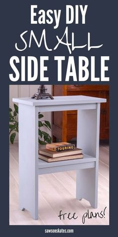 Diy Furniture Hacks, Furniture Projects, Handmade Furniture, Diy Wood Projects, Easy Projects, Wood Crafts, Project Ideas, Craft Ideas, Wooden Side Table