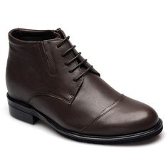 f3d85348d0a Look for discount Dark Brown Calfskin Leather Boots For Men 7cm    2.75inches Height Increase