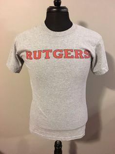 Vintage Rutgers University T-Shirt Small by OldSchoolCollegiate