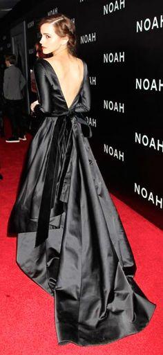 Emma Watson in silk gown.
