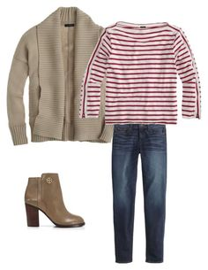 """Untitled #599"" by caseylovesjcrew ❤ liked on Polyvore featuring J.Crew and Tory Burch"