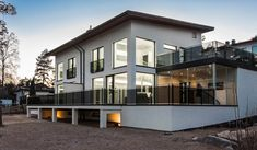 valkoinen kivitalo - Google Search Home Fashion, Habitats, Interior Decorating, Mansions, House Styles, Inspiration, Home Decor, Homes, Decoration