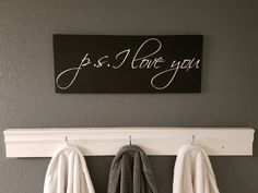 P.S. I Love You Custom Wood Sign